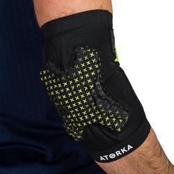 Ellbogenschoner Handball H500 Erwachsene schwarz/gelb