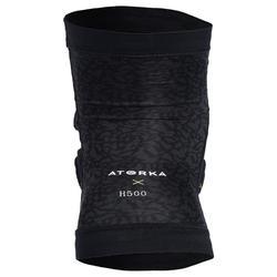Kniebeschermer handbal H500 zwart / geel