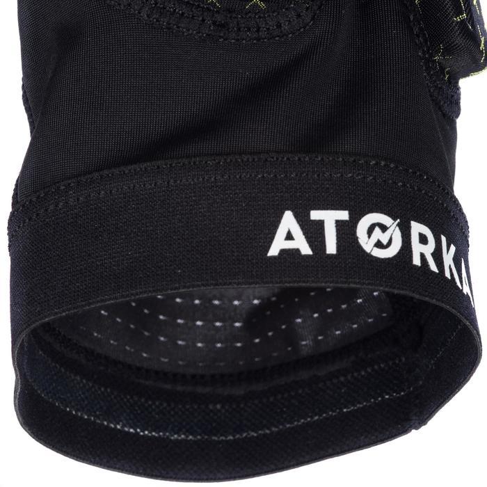 Kniebeschermer voor handbal H500 zwart / geel