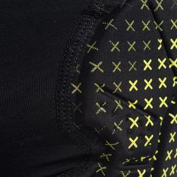 Genouillère de handball H500 noir / jaune