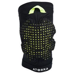 Kniebeschermer voor handbal H500 zwart/geel