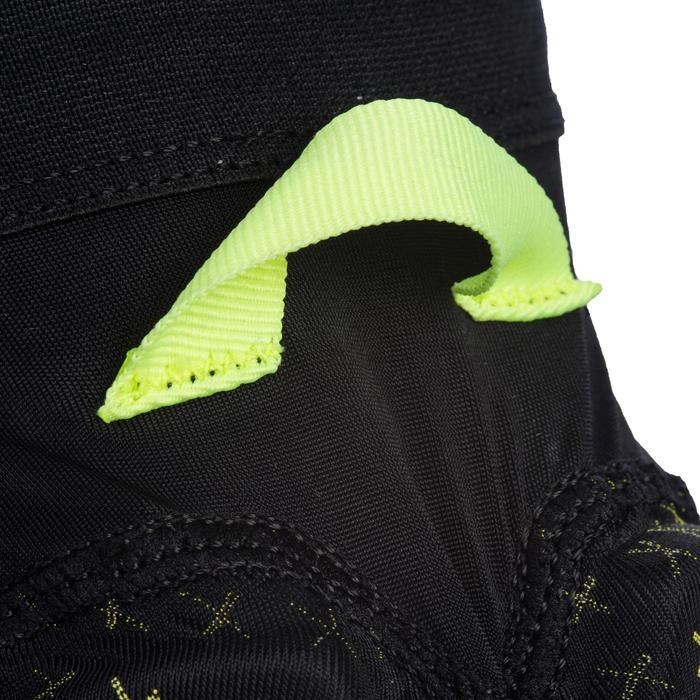 Rodillera de balonmano H500 negro / amarillo