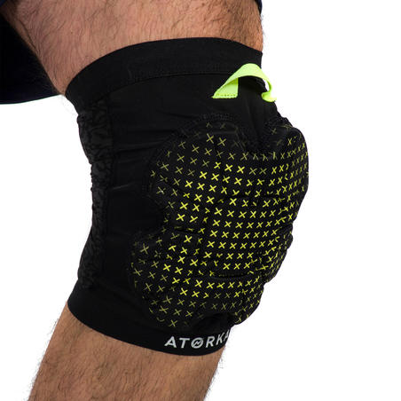 H500 Handball Knee Pad - Black/Yellow