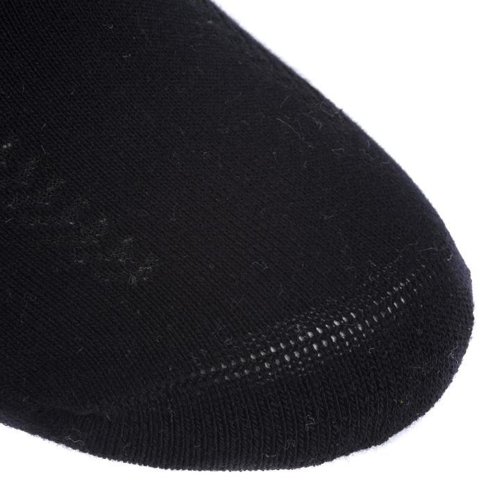 Handballsocken halbhoch 2 Paar weiß/schwarz