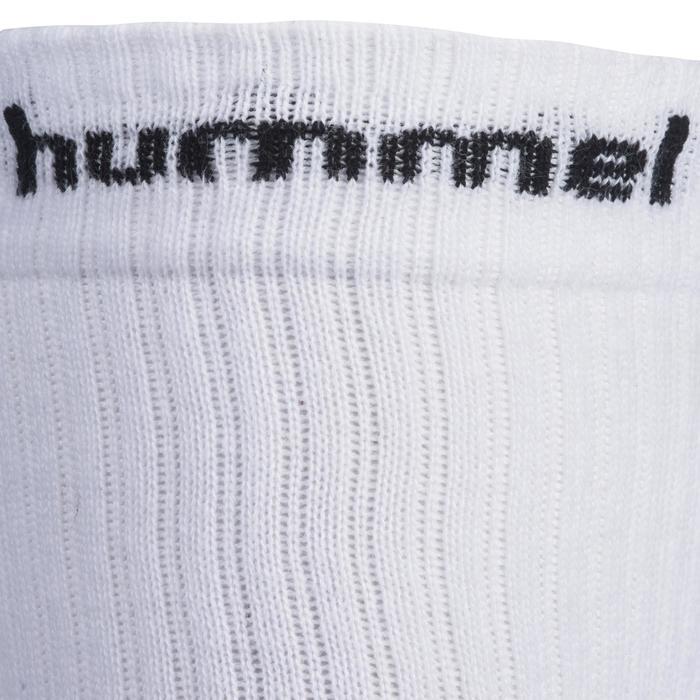 Set 2 paar handbalsokken volwassenen wit/zwart