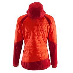Bergsteiger-Jacke Hybrid Damen rot