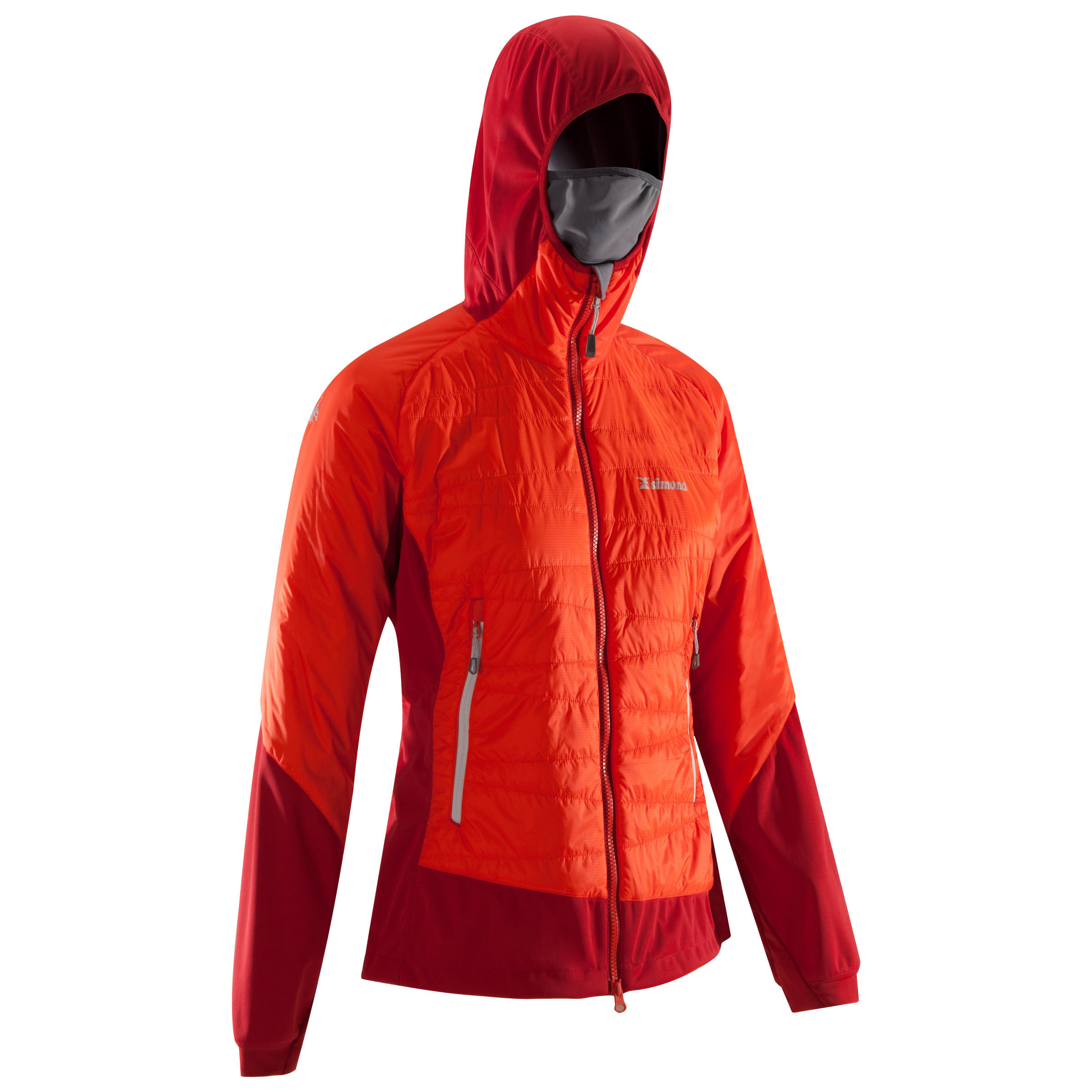 Veste d'isolation active HYBRIDE FEMME Rouge