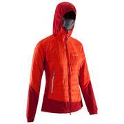 Živo rdeča ženska jakna HYBRID