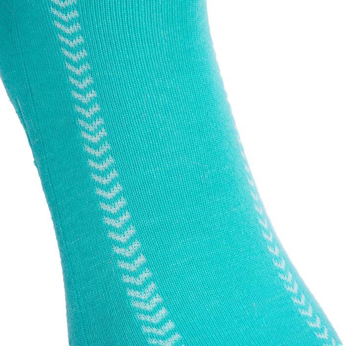 Chaussettes de Handball Hummel de couleur Menthol et Blanche. - 1322122