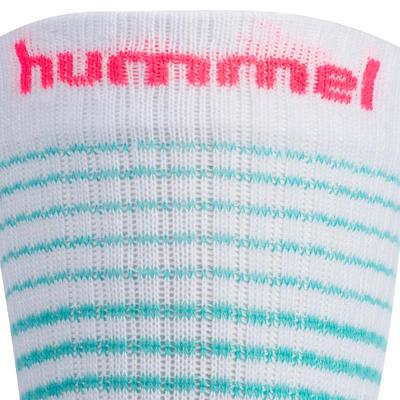 Chaussettes de handball blanc / vert / rose