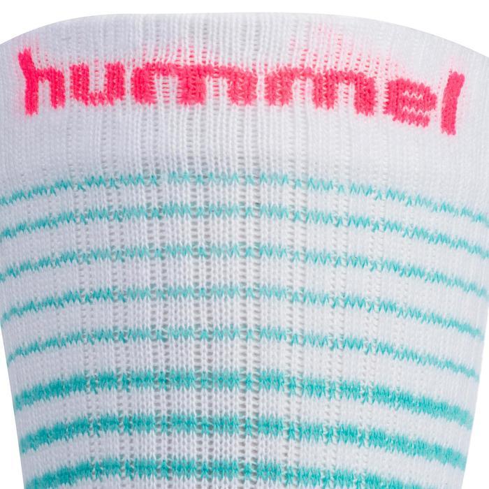 Chaussettes de Handball Hummel de couleur Menthol et Blanche. - 1322125