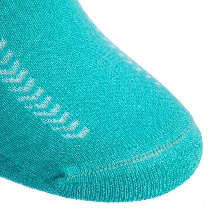 Chaussettes de Handball Hummel de couleur Menthol et Blanche.