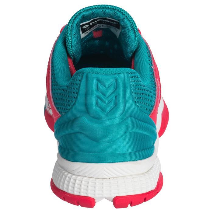 Chaussures de Handball HB180 adulte de couleur Menthol et rose.