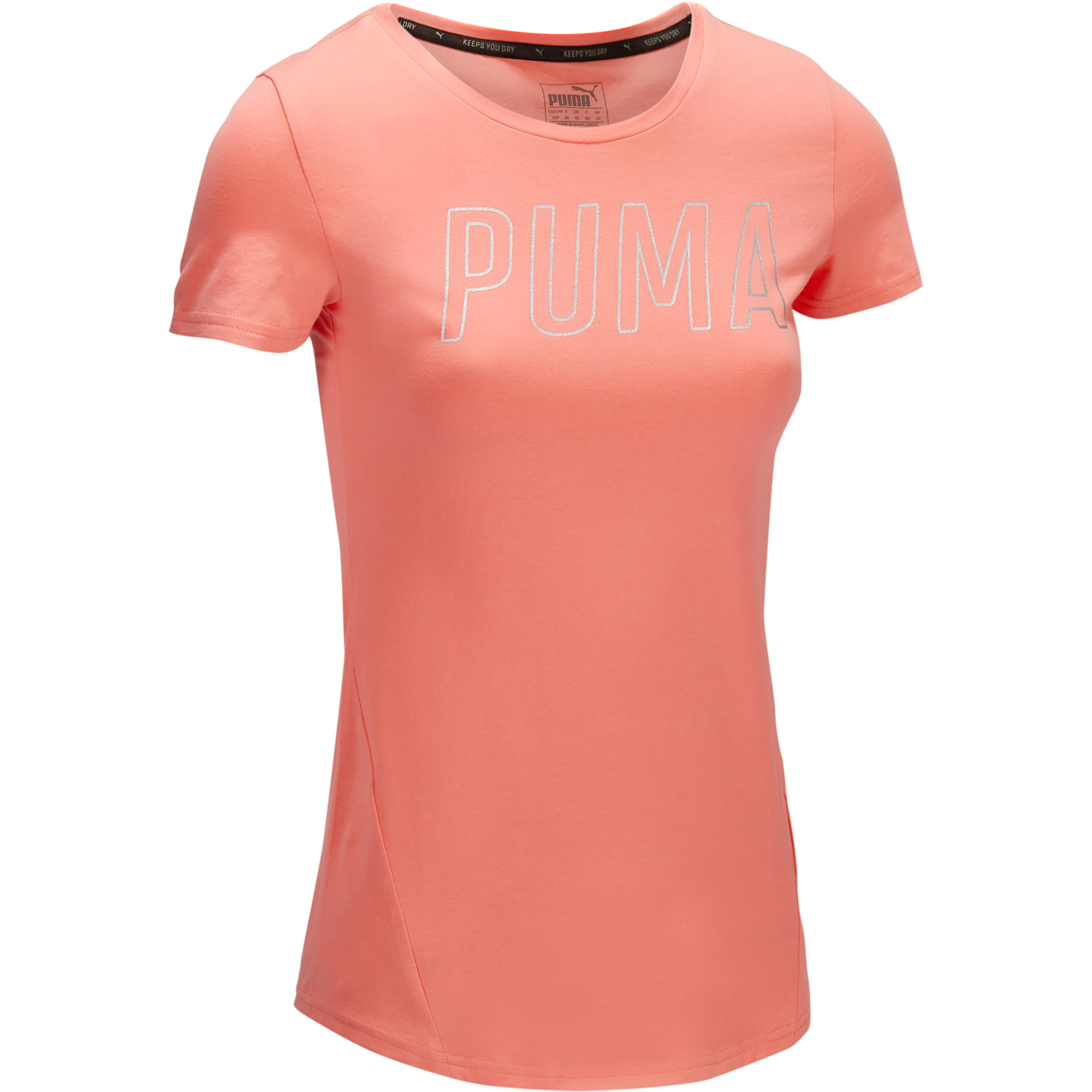 Puma Dames T-shirt Puma voor gym en pilates koraal