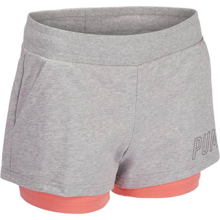 Short PUMA Gym & Pilates 2en1 femme gris - 1322216