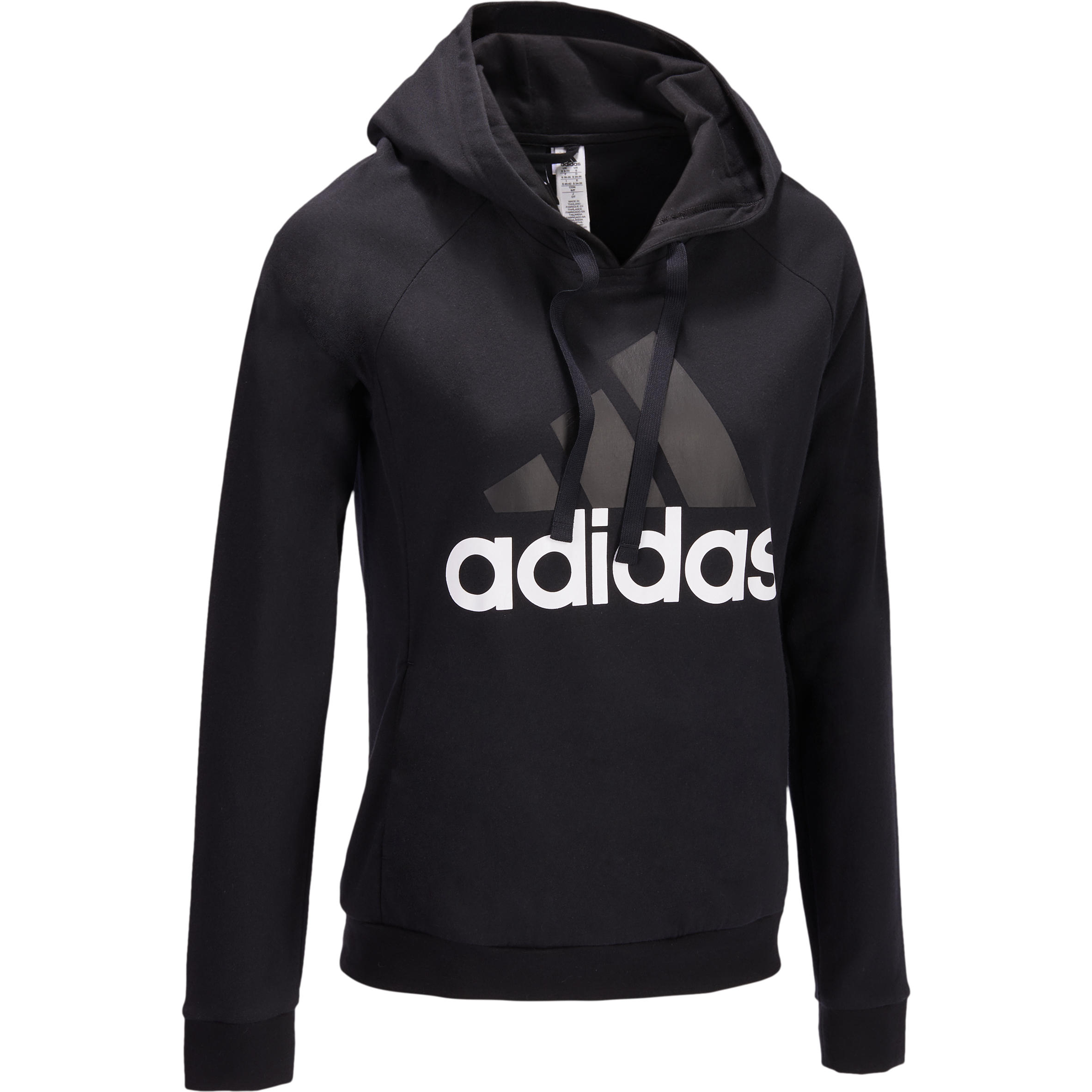 Adidas Dameshoodie Adidas voor gym en pilates logo