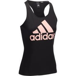 Katoenen tanktop voor gym en pilates, voor dames, van Adidas, met logo