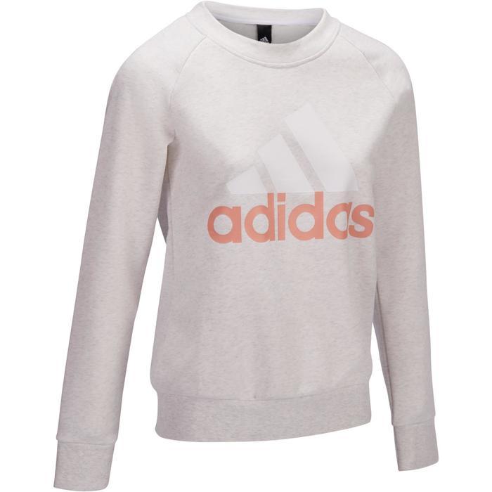 Sweat ADIDAS Gym & Pilates femme col rond logo - 1322220