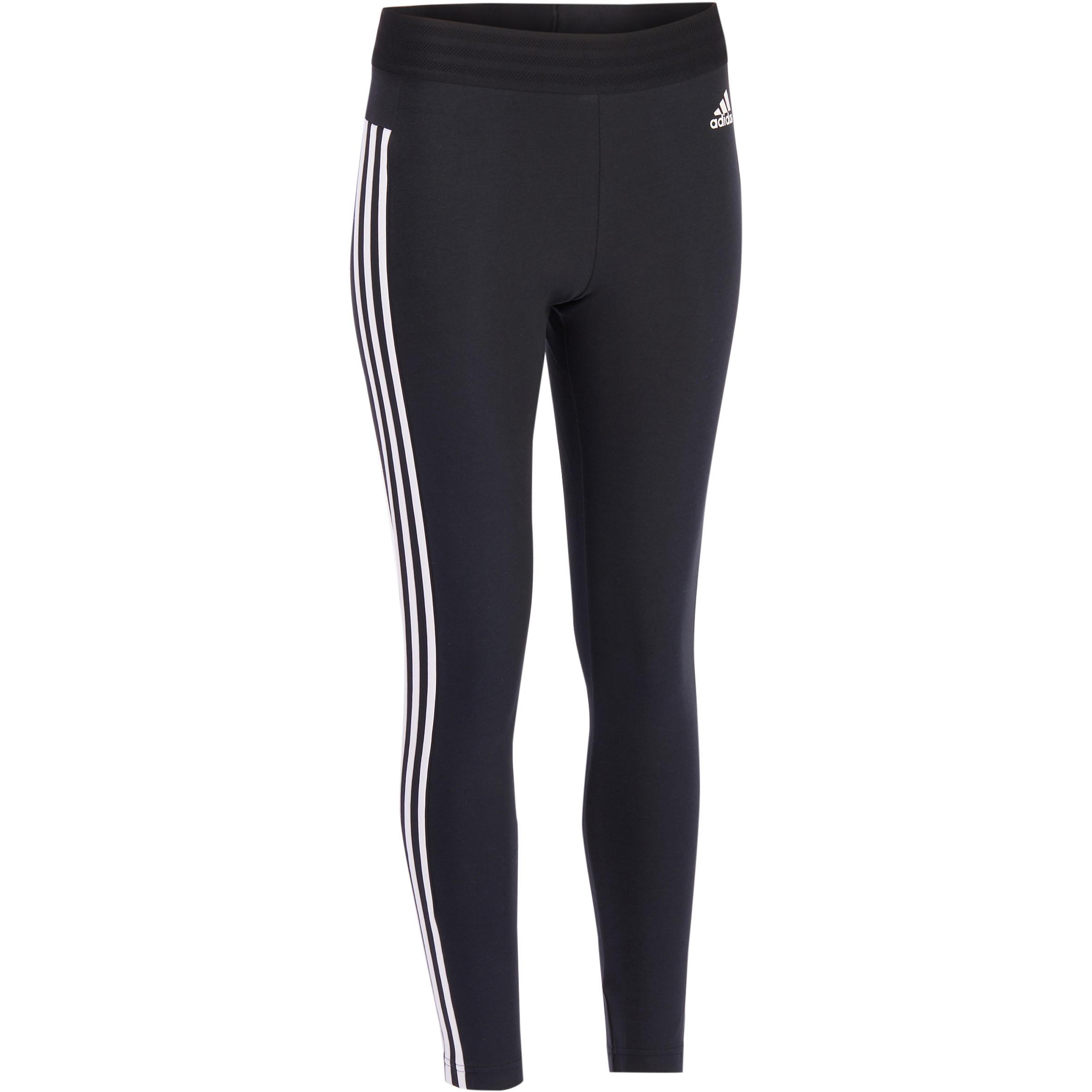 Adidas Dameslegging Adidas voor gym en pilates zwart wit
