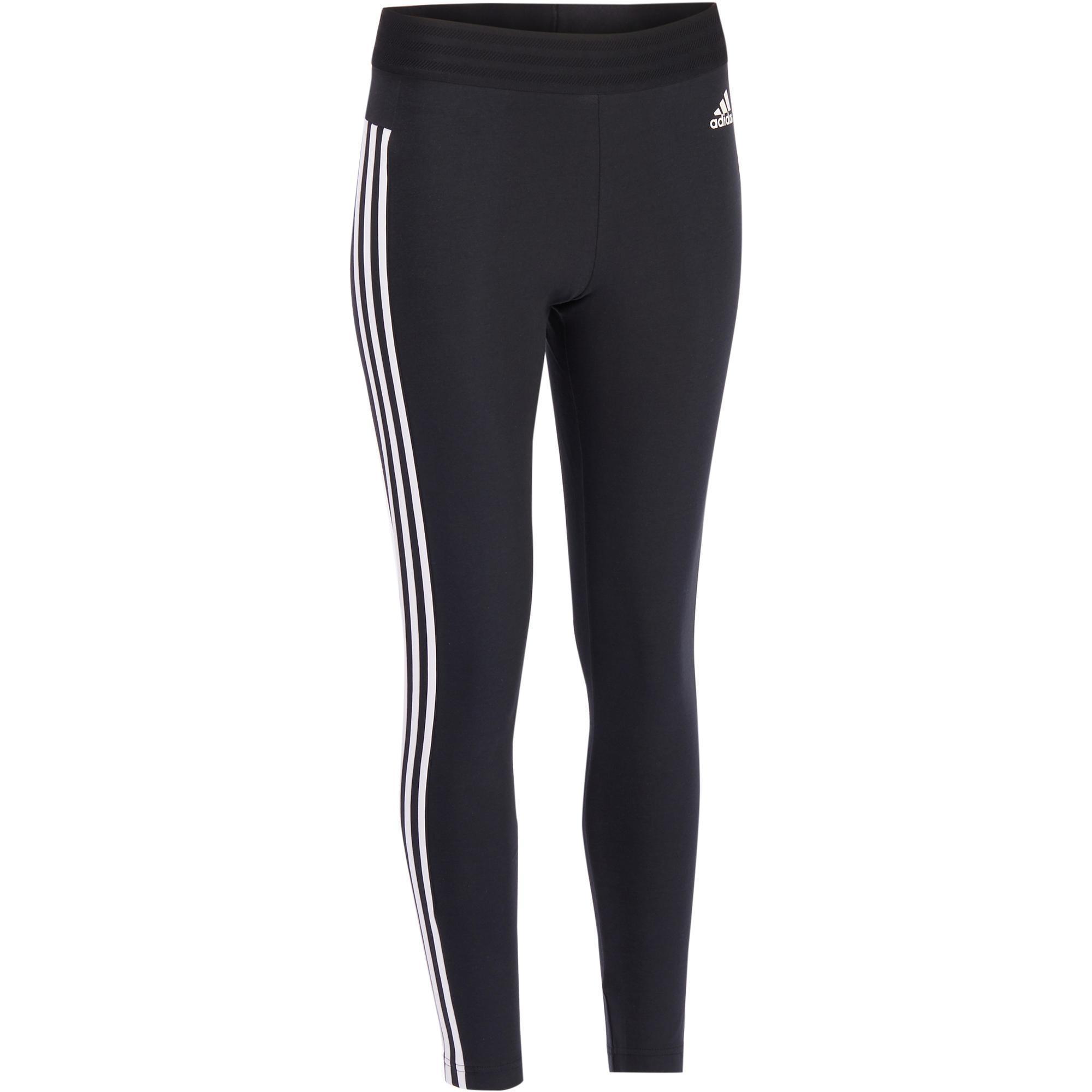Adidas Dameslegging Adidas 500 voor gym en stretching slim fit zwart en wit