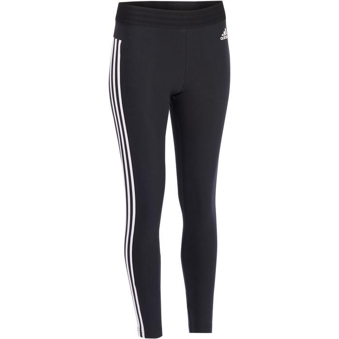 Legging Adidas 500 slim Gym Stretching femme noir et blanc - 1322221