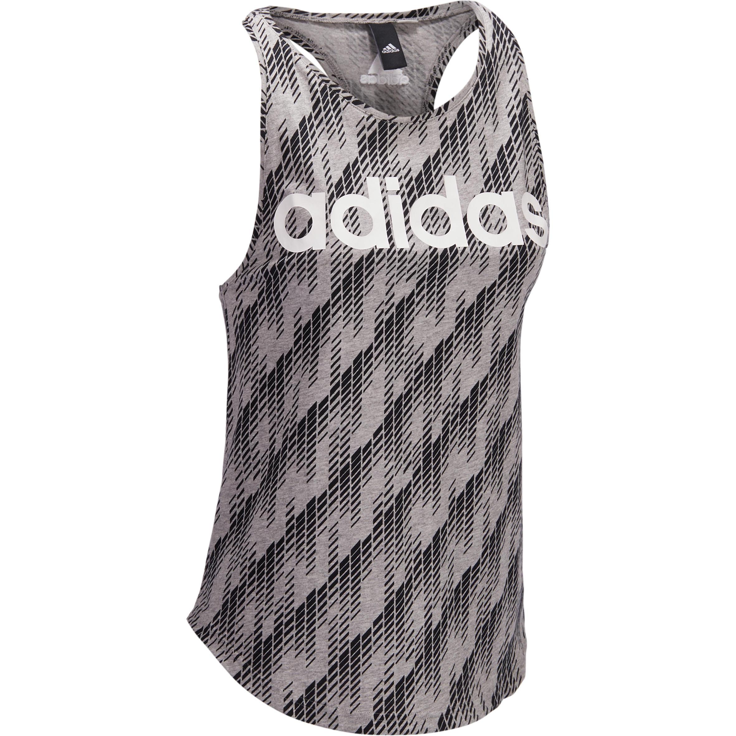 Adidas Damestop Adidas voor gym en pilates katoen print
