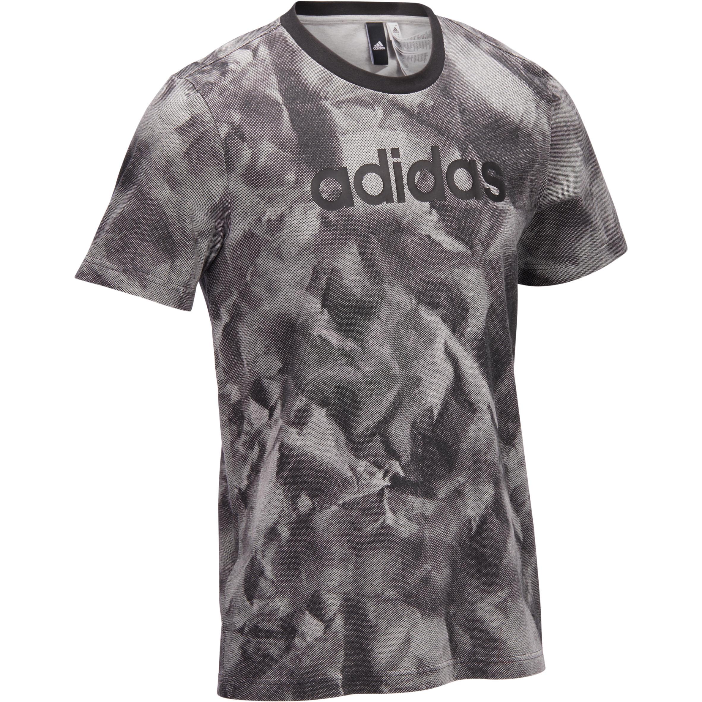 Adidas Heren T-shirt Adidas voor gym en pilates met print
