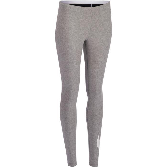Legging Nike Gym & Pilates femme gris logo