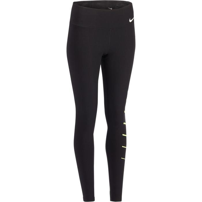 Dameslegging Nike 100 voor gym en stretching zwart met opdruk