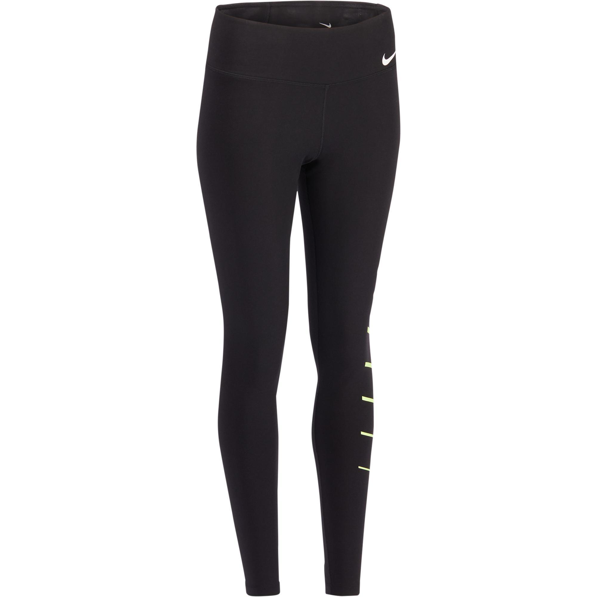 Nike Dameslegging Nike voor gym en pilates zwart print