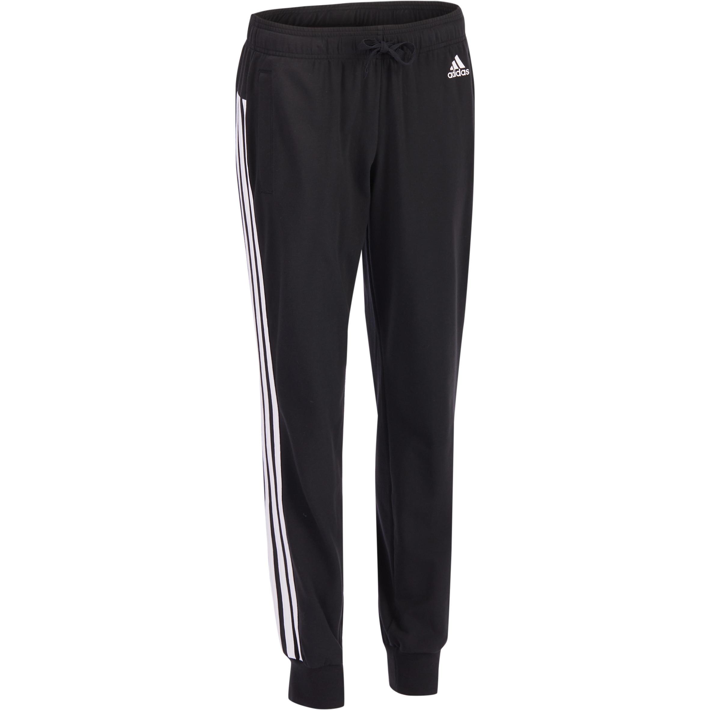 Adidas Lichte broek Adidas voor gym en pilates 3 strepen
