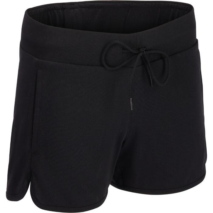 Short Adidas Gym & Pilates femme coton léger
