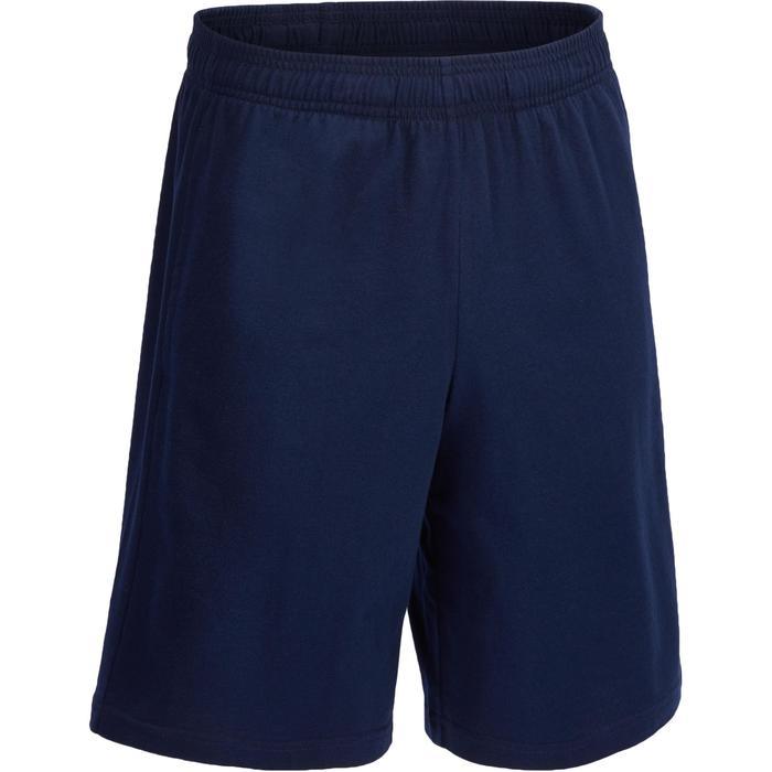 Herenshort Adidas voor gym en pilates blauw met logo