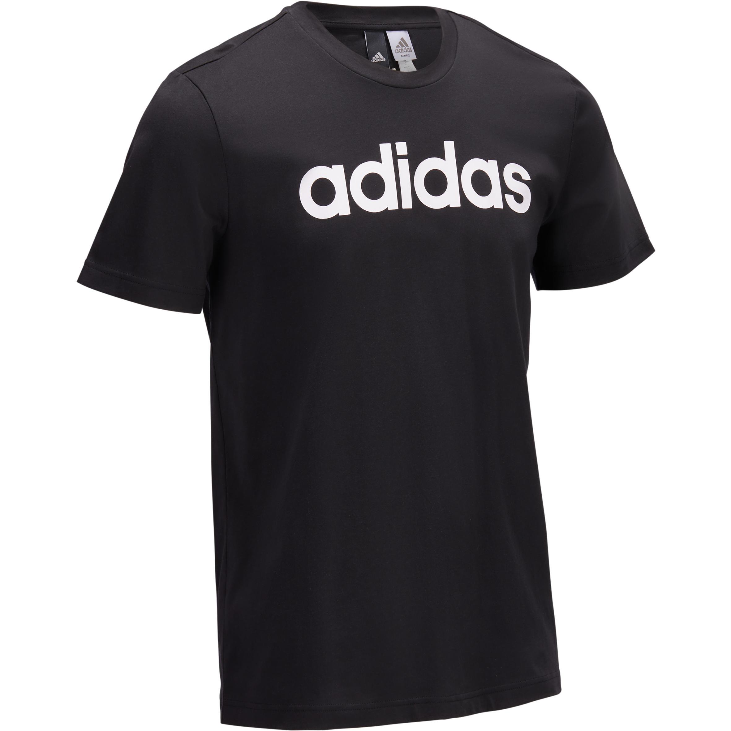 Adidas Heren T-shirt Adidas voor gym en pilates zwart