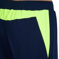 Keepersbroek handbal H500 blauw / geel