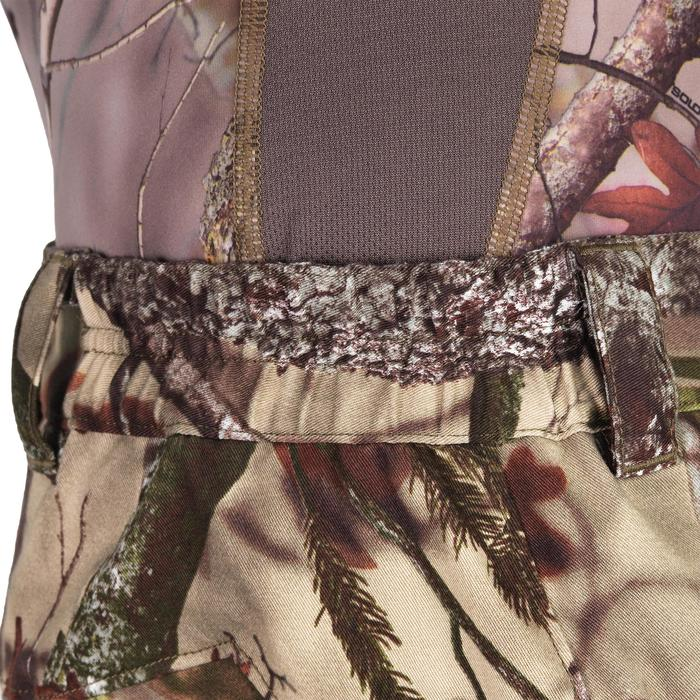 Hunting Silent Breathable Trousers 500 - Forest Camo