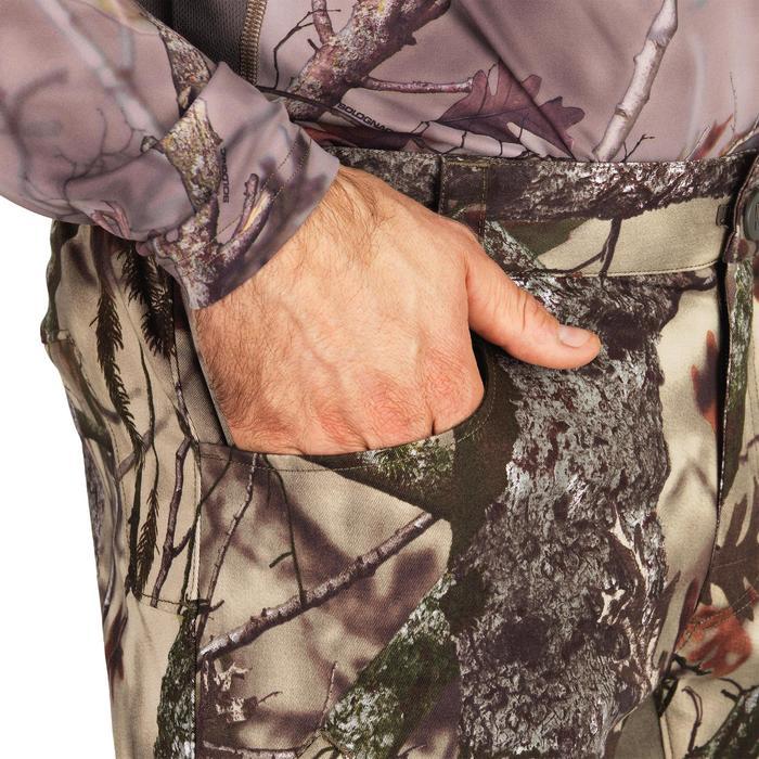 Pantalón Caza Solognac Bgs 500D Silencioso Transpirable Camuflaje Marron