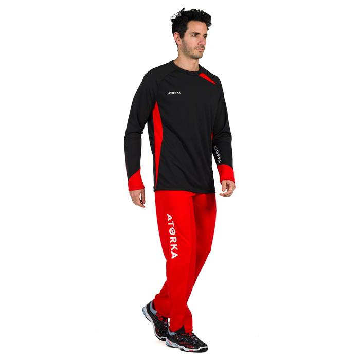 Keepersbroek handbal H500 rood / zwart