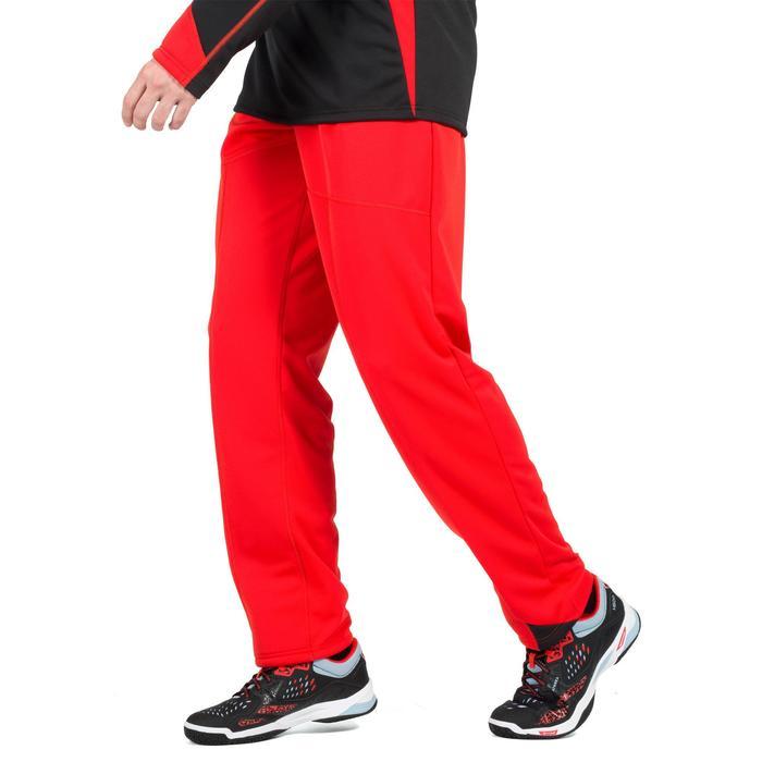 Pantalón portero de balonmano adulto H500 rojo / negro
