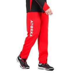 Pantalon gardien de handball adulte H500 rouge / noir
