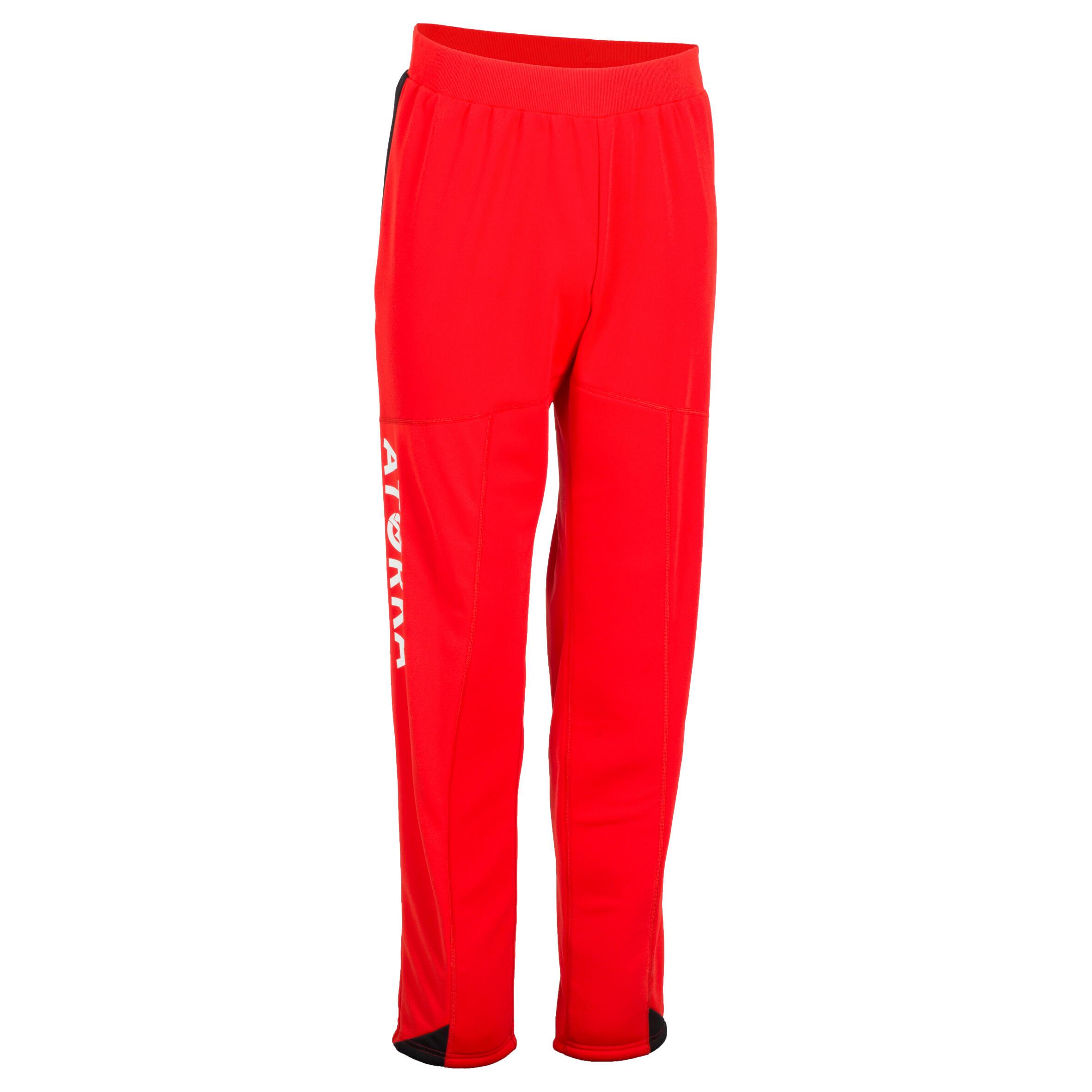Damen,Herren Handball Torwarthose H500 rot schwarz   03583788171126