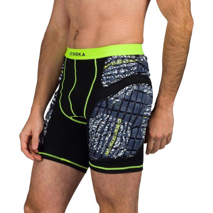 Pantalón corto de protección H500 Negro y amarillo