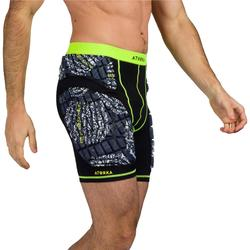 Sous short de protection adulte H500 noir/jaune