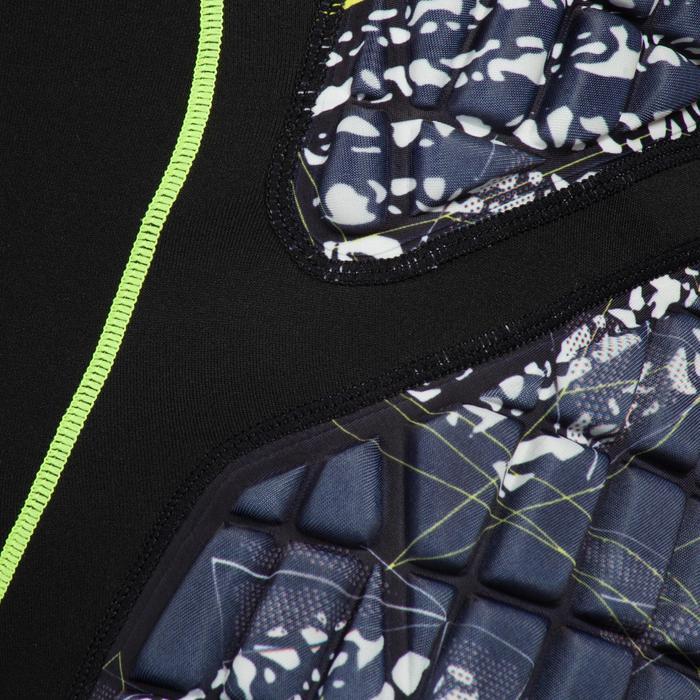 Pantalón corto de Protección Atorka H500 Adulto Negro Amarillo