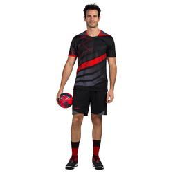 Handbalshort voor heren H500 zwart / grijs