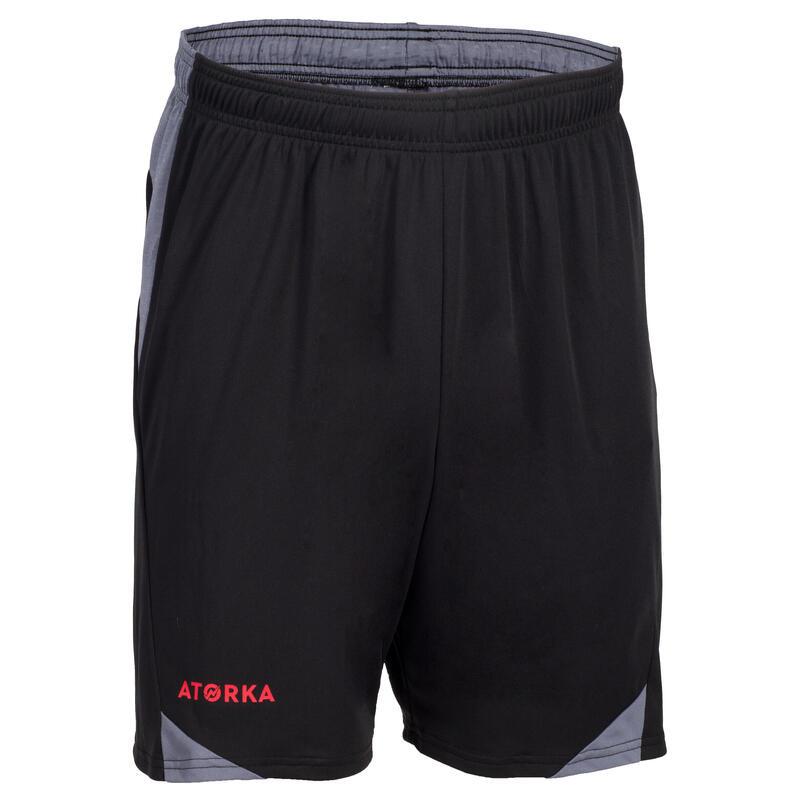 Short de handball homme H500 noir/gris