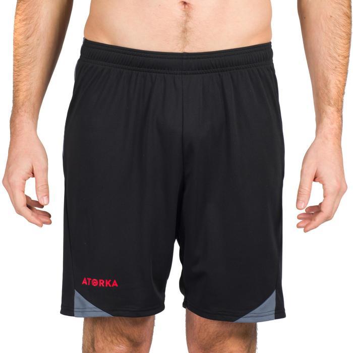 Handballshorts H500 Herren schwarz/rot