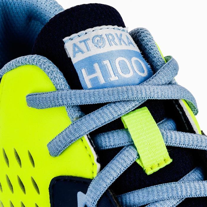 Chaussures de Handball H100 fille avec lacets violettes et roses - 1322701