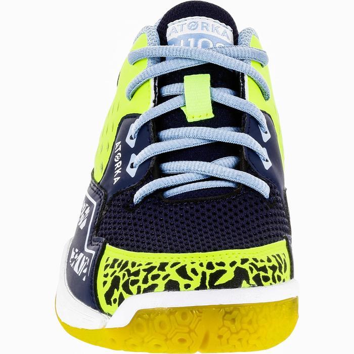 Chaussures de Handball H100 fille avec lacets violettes et roses - 1322703
