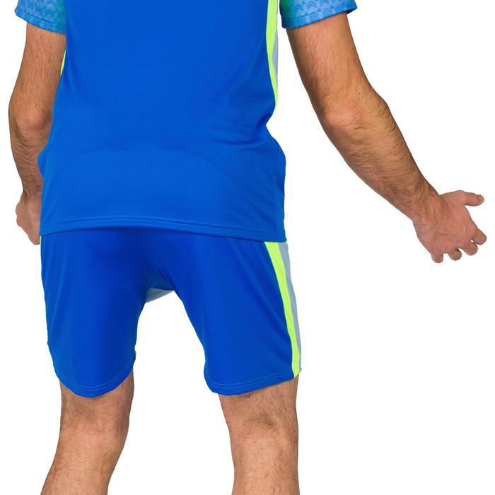 Short V500 homme bleu et jaune
